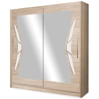 Dulap Haine cu Oglinda - Dome DO8-15 Stejar - Dressing Sifonier - Latime 150 cm