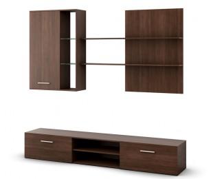 Biblioteca Costin Quatro - Culoare Wenge - Mobila Living-Sufragerie
