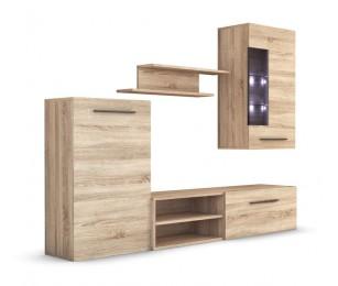 Biblioteca Elena - Sonoma - Mobila Living 228 x 42 cm