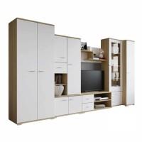 Biblioteca Gabriela / Ars - Culoare Alb-Stejar - Mobila Living-Sufragerie