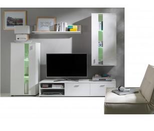 Biblioteca Maria Alb - Mobila Living 220 x 118 x 40 cm