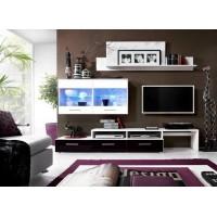 Biblioteca Zara Alb-Negru - Mobila Living 219 x 37 x 43 cm