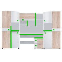 Biblioteca Colorato – Mobila Adolescenti - Baieti 290 x 197 x 40/50 cm