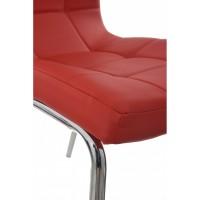 Scaun de bucatarie Metal Cromat - Tip 2 - Culoare Rosu