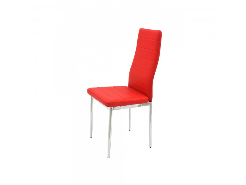 Scaun de bucatarie Metal Cromat - Tip 3 - Culoare Rosu