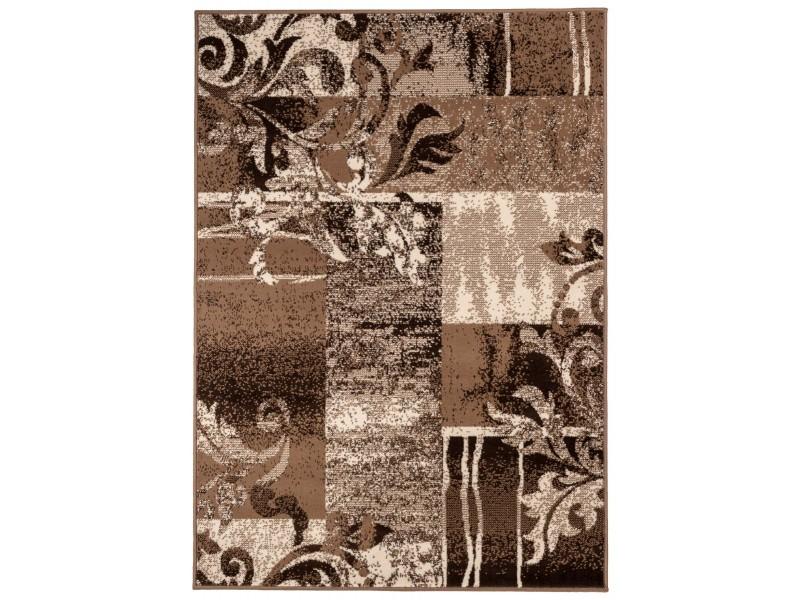 Covor Dreptunghiular Patchwork Cratombus Maro/Gri - C05-0201107