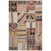Covor Dreptunghiular Patchwork Leighton Taupe/Multicolor - C542-496806