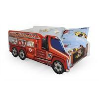 Pachet Pat Copii - HM Fire Truck + Saltea 70x140 cm - 2-8 ani
