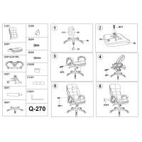 Scaun Directorial Ergonomic - Sl Q270 Negru