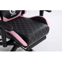 Scaun Gaming Genator V1 - Suport Picioare - Culoare Negru-Roz