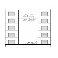 Dressing Astra 233 Sonoma - Dulap-Sifonier 233x218x61 cm