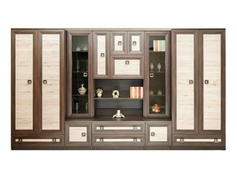 Biblioteca Oli Stejar - Mobila Living 360 x 215 x 55 cm