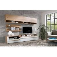 Biblioteca Porto D - Culoare Stejar-Alb - Mobila Living-Sufragerie