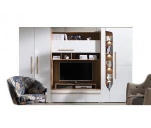 Biblioteca Porto - Mobila Living - Sufragerie 294x195x52 cm