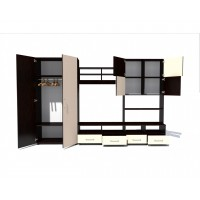 Biblioteca Fiesta - Culoare Wenge-Alb - Mobila Living-Sufragerie