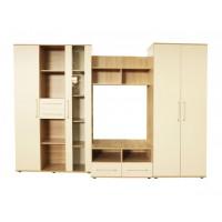 Biblioteca Selena - Culoare Sonoma-Vanilie - Mobila Living-Sufragerie