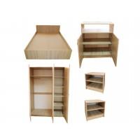 Set Mobila Dormitor Soft - Culoare Stejar - Pat 140x200 cm + Sifonier + Comoda + Noptiere