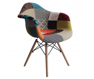 Scaun Living Patchwork Design - Multicolor