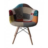 Scaun Living Patchwork Design - Multicolor