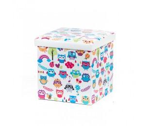 Taburet Design 38x38 Owls New - Bufnite Multicolor