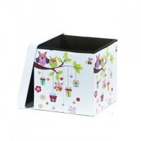 Taburet Design 38x38 Owls - Bufnite Multicolor