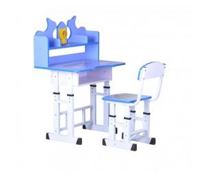 Set birou copii ajustabil pe inaltime USP288 Albastru