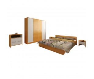 Set Dormitor Complet Mirela Stejar - Sifonier + Pat + Noptiere + Comoda